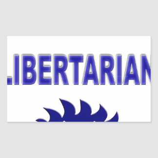 Vote Libertarian Rectangular Sticker
