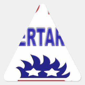 Vote Libertarian Triangle Stickers