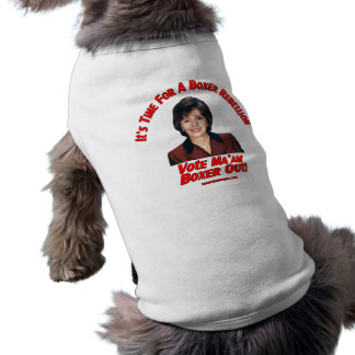 Vote Ma'am Boxer Out Doggie Shirt