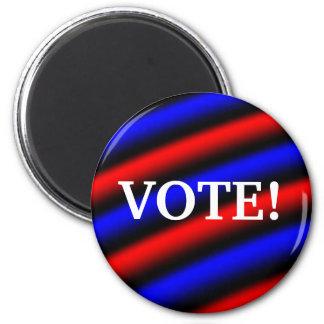 Vote! 6 Cm Round Magnet