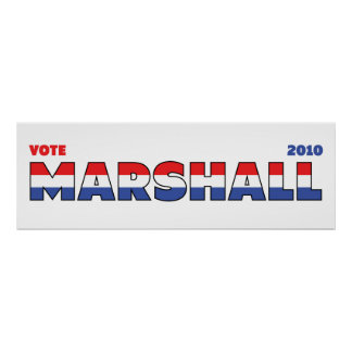 Vote Marshall 2010 Elections Red White and Blue Print