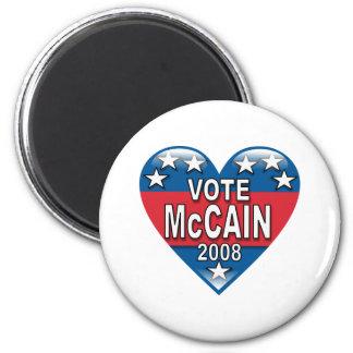 Vote McCain 2008 6 Cm Round Magnet