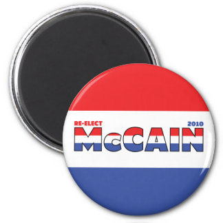 Vote McCain 2010 Elections Red White and Blue 6 Cm Round Magnet