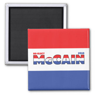 Vote McCain 2010 Elections Red White and Blue Square Magnet