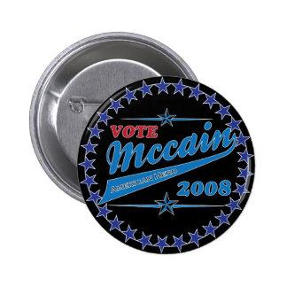 Vote McCAIN an American Hero election 2008 6 Cm Round Badge