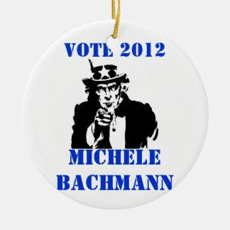 VOTE MICHELE BACHMANN 2012 CHRISTMAS ORNAMENTS