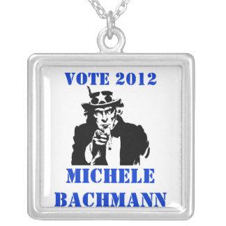 VOTE MICHELE BACHMANN 2012 PERSONALIZED NECKLACE