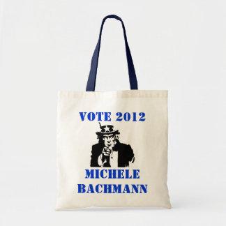 VOTE MICHELE BACHMANN 2012 CANVAS BAGS