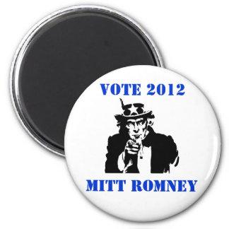 VOTE MITT ROMNEY 2012 6 CM ROUND MAGNET