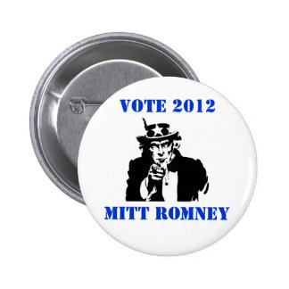 VOTE MITT ROMNEY 2012 PINBACK BUTTONS