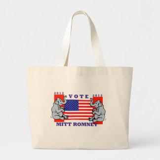 VOTE MITT ROMNEY 2012 CANVAS BAGS