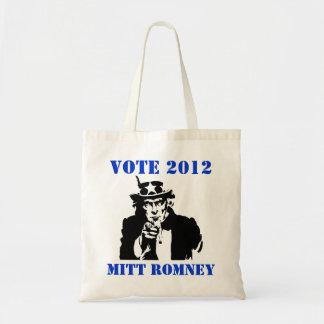 VOTE MITT ROMNEY 2012 BUDGET TOTE BAG
