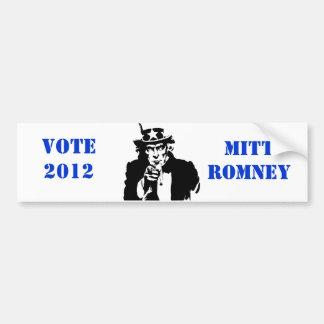 VOTE MITT ROMNEY 2012 CAR BUMPER STICKER