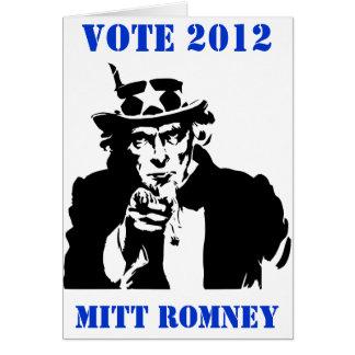 VOTE MITT ROMNEY 2012 GREETING CARD