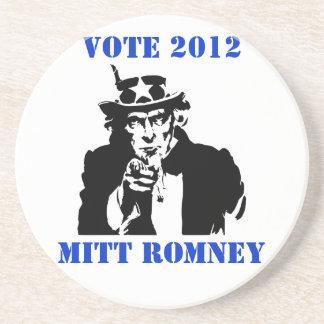 VOTE MITT ROMNEY 2012 DRINK COASTERS