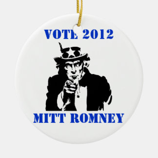 VOTE MITT ROMNEY 2012 ORNAMENT