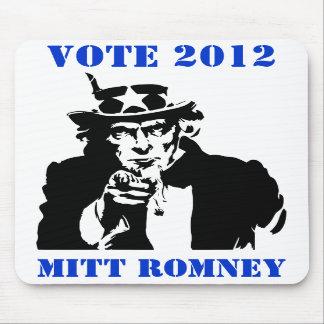 VOTE MITT ROMNEY 2012 MOUSEPADS