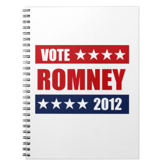 VOTE MITT ROMNEY 2012 - png Note Books