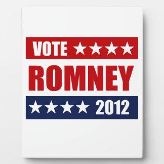 VOTE MITT ROMNEY 2012 - png Display Plaque