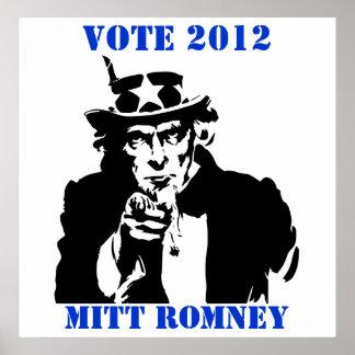VOTE MITT ROMNEY 2012 PRINT
