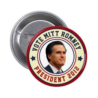 Vote Mitt Romney For President 2012 6 Cm Round Badge