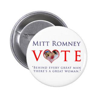 Vote Mitt Romney For President 2012 Pinback Buttons