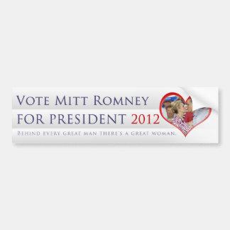 Vote Mitt Romney For President 2012 Bumper Sticker
