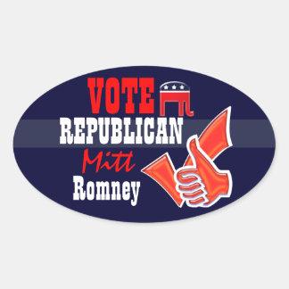 Vote Mitt Romney PERSONALIZE Oval Sticker