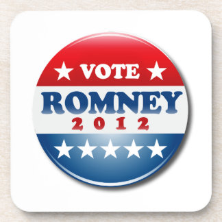 VOTE MITT ROMNEY PIN ROUND png Drink Coasters