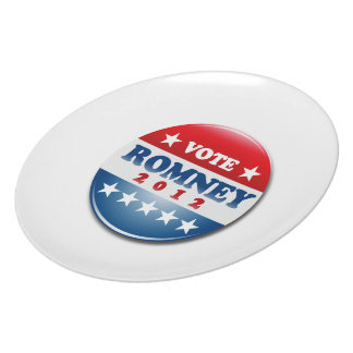 VOTE MITT ROMNEY PIN ROUND png Party Plate