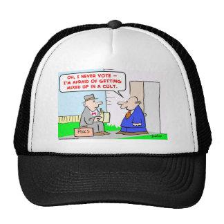 vote mixed cult trucker hat