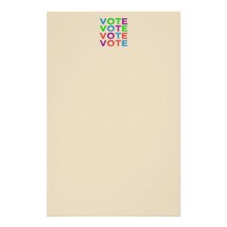 VOTE Multi-colored Stationery