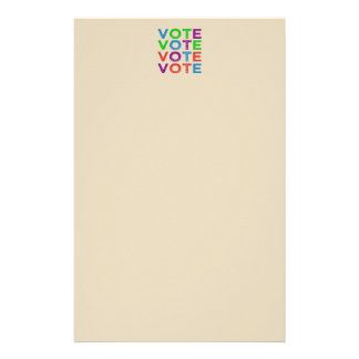 VOTE Multi-coloured Stationery