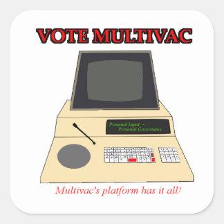 Vote Multivac Square Sticker