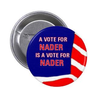 Vote Nader Button