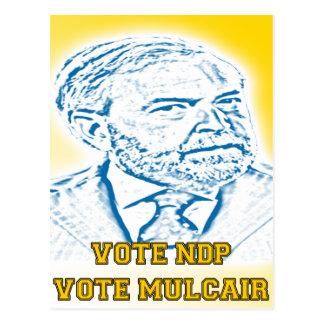 Vote NDP Vote Mulcair Postcard