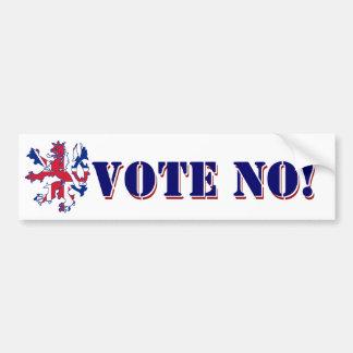 Vote No Scottish referendum Bumper Sticker