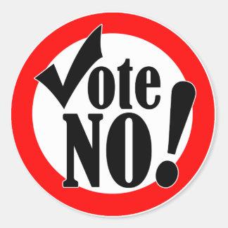 Vote No! Round Stickers