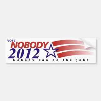 Vote Nobody 2012 Bumper Stickers