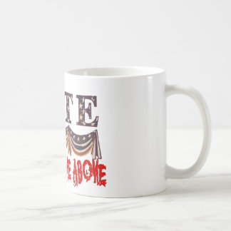 VOTE NONE OF THE ABOVE COFFEE MUG