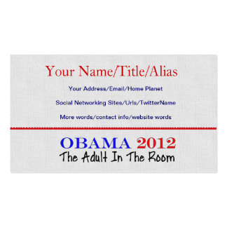Vote Obama 2012 Business Cards