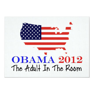 "Vote Obama 2012 5"" X 7"" Invitation Card"