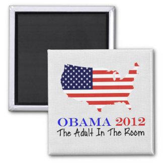 Vote Obama 2012 Square Magnet