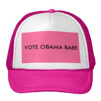 VOTE OBAMA BABE CAP