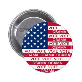 Vote Obama Flag 6 Cm Round Badge