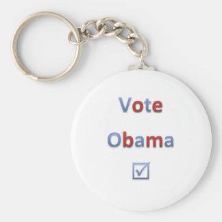 Vote Obama Retro Style 1 Basic Round Button Key Ring