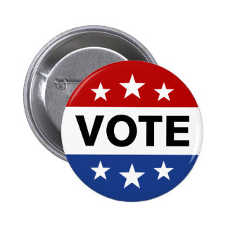 Vote on election day pin back button