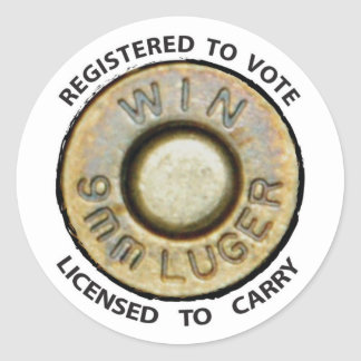 Vote or Carry Classic Round Sticker