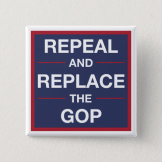 Vote out the GOP! Resist! 15 Cm Square Badge