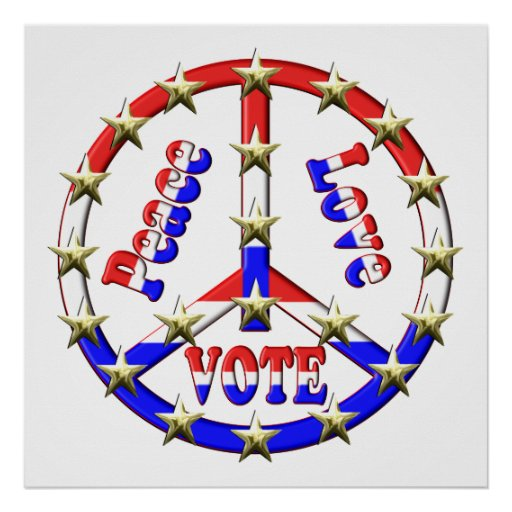 Vote Peace Sign Posters